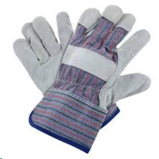 Where to find GLOVES, LEATHER PALM GRAY in Plymouth