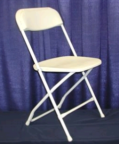 Where to rent CHAIR -  WHITE FOLDING in Plymouth MN