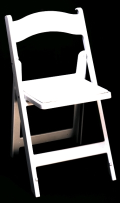 Where to rent CHAIR -  WHITE RESIN PADDED in Plymouth MN