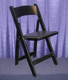 Where to rent CHAIR -  WOOD BLACK PADDED in Plymouth MN
