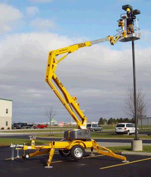 Man Lift 40 Foot Trailer Mounted Boom Rentals Plymouth Mn